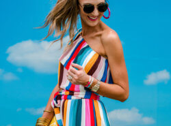 Striped two piece set for Summer | hi Sugarplum for Gibson