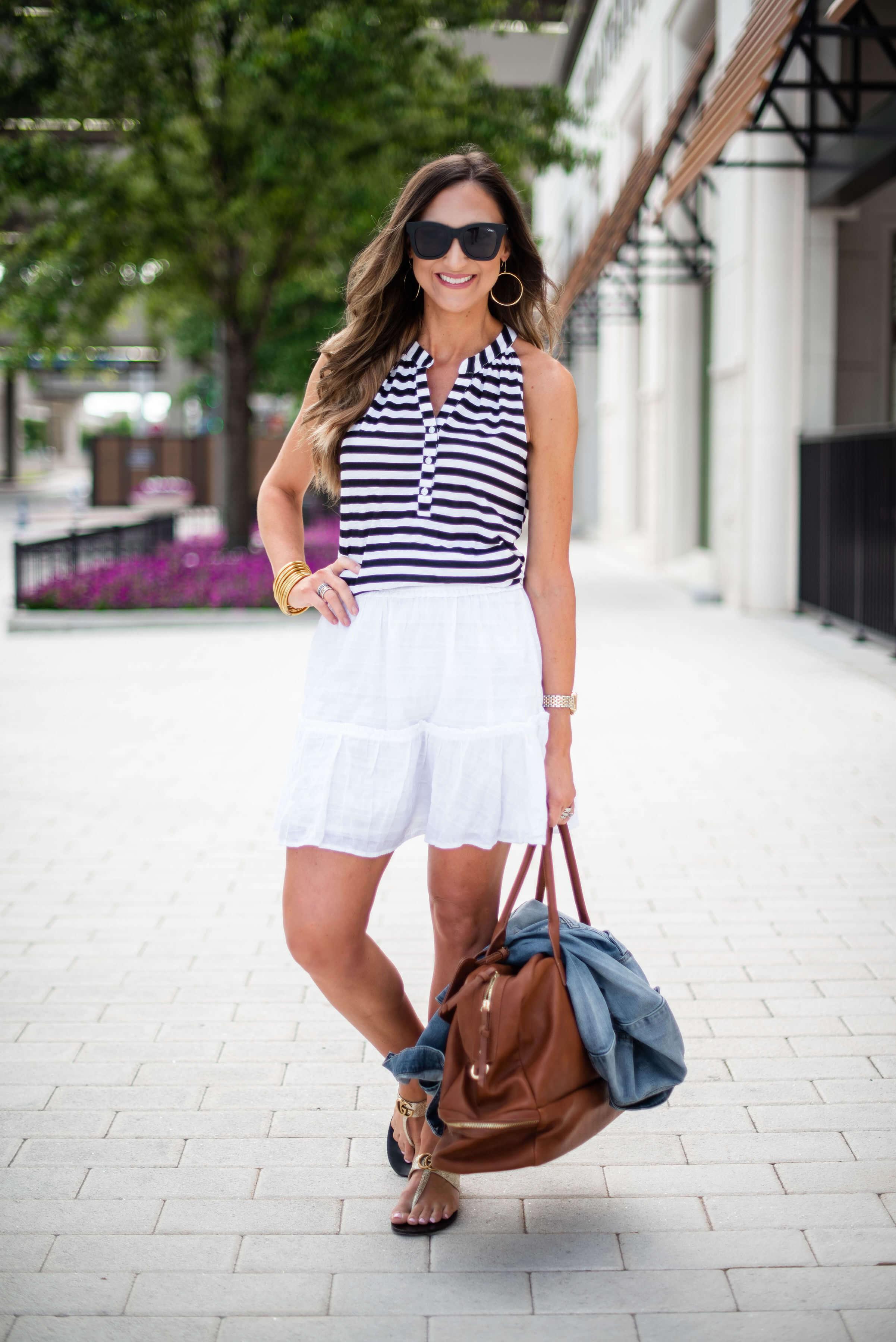 White ruffled skirt | Style Your Senses