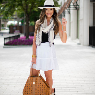 White ruffled skirt | Style Your Senses