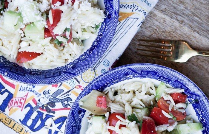 Orzo Greek Salad | Summer Dinner Idea | Style Your Senses