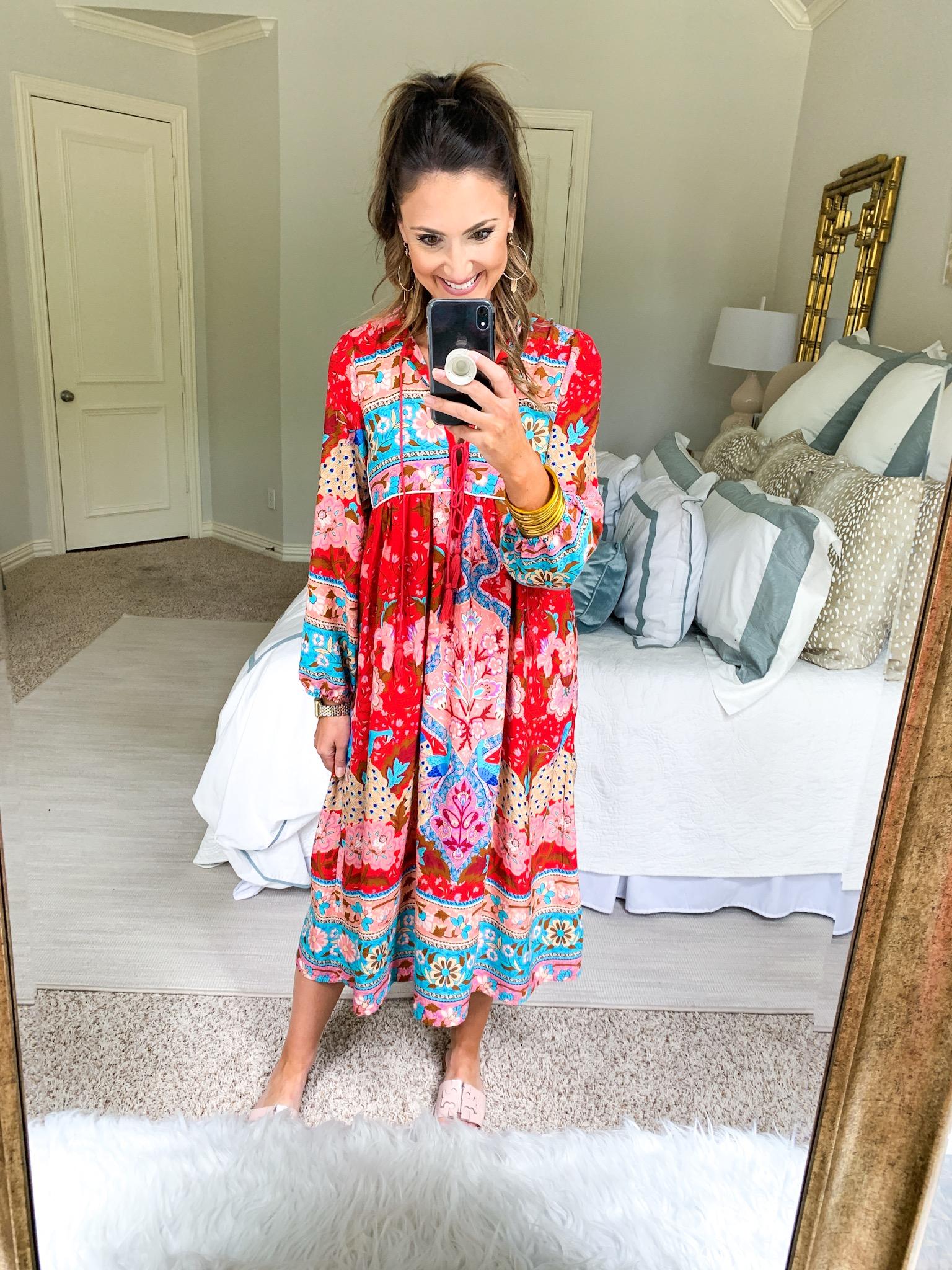 Printed Midi Dress | Amazon Fashion Haul | Style Your Senses