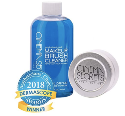 cinema secrets makeup brush cleaner on amazon