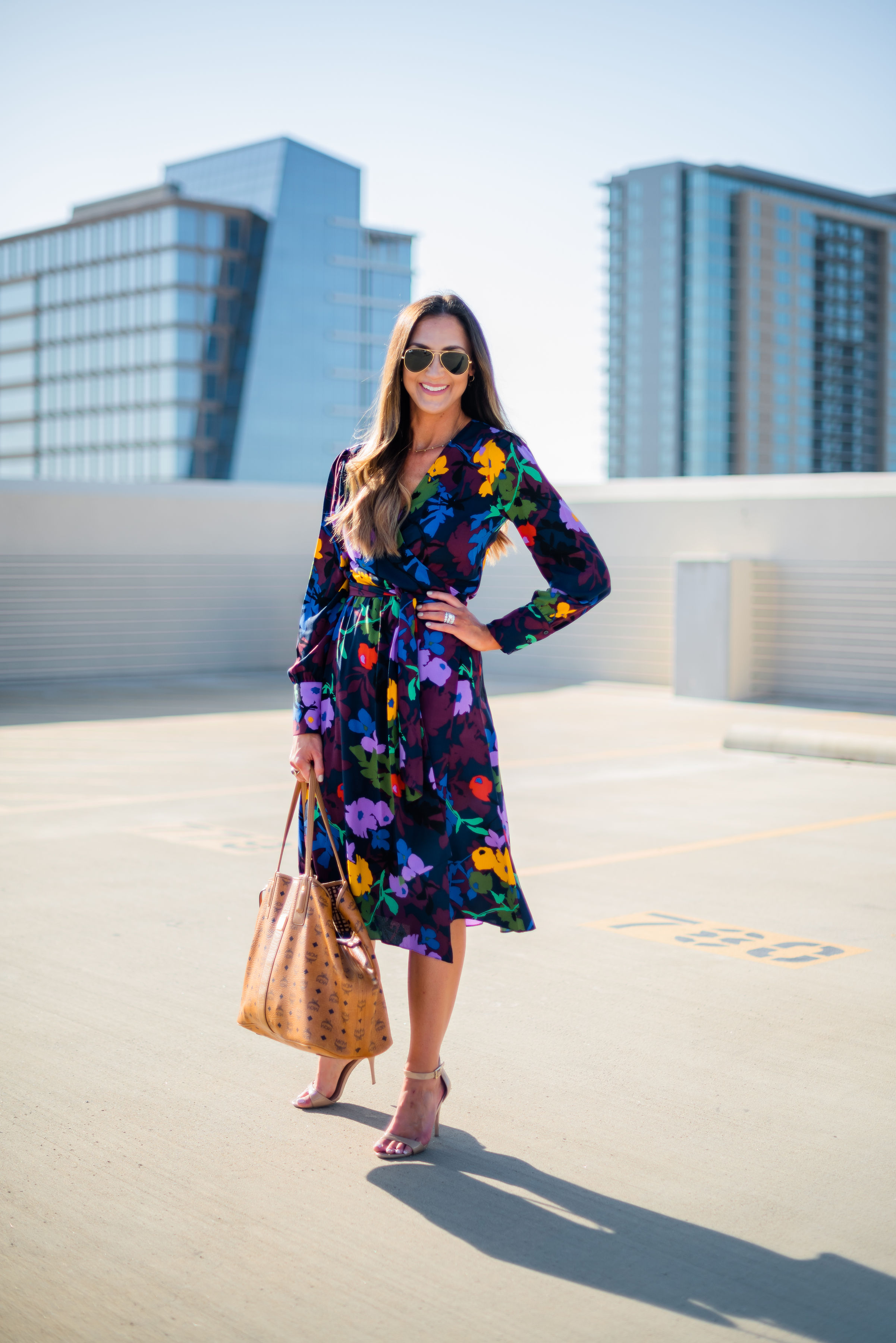 Wrap dress for work | floral wrap dress | Nordstrom | Style Your Senses