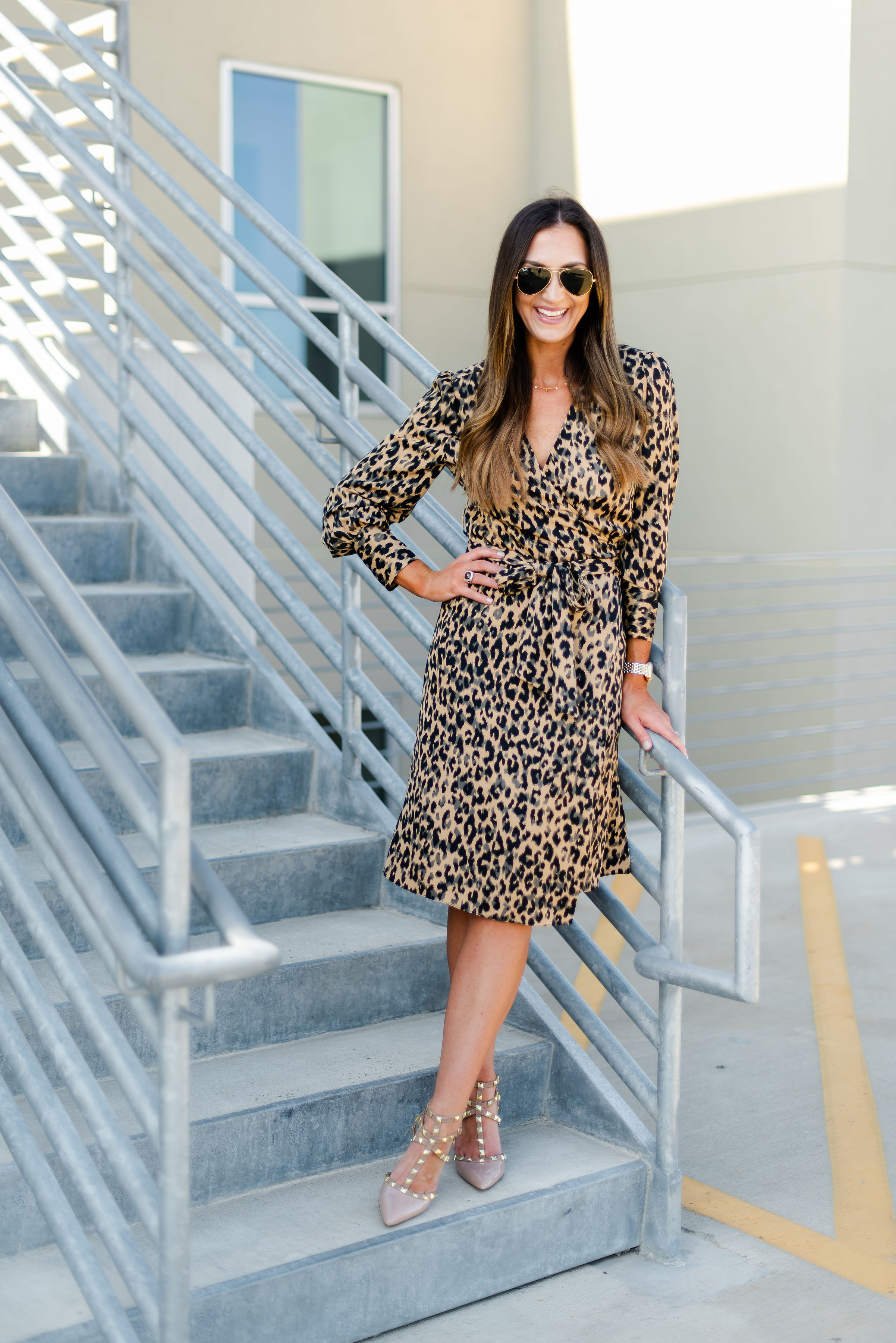 Wrap dress for work | leopard print l wrap dress | Nordstrom | Style Your Senses