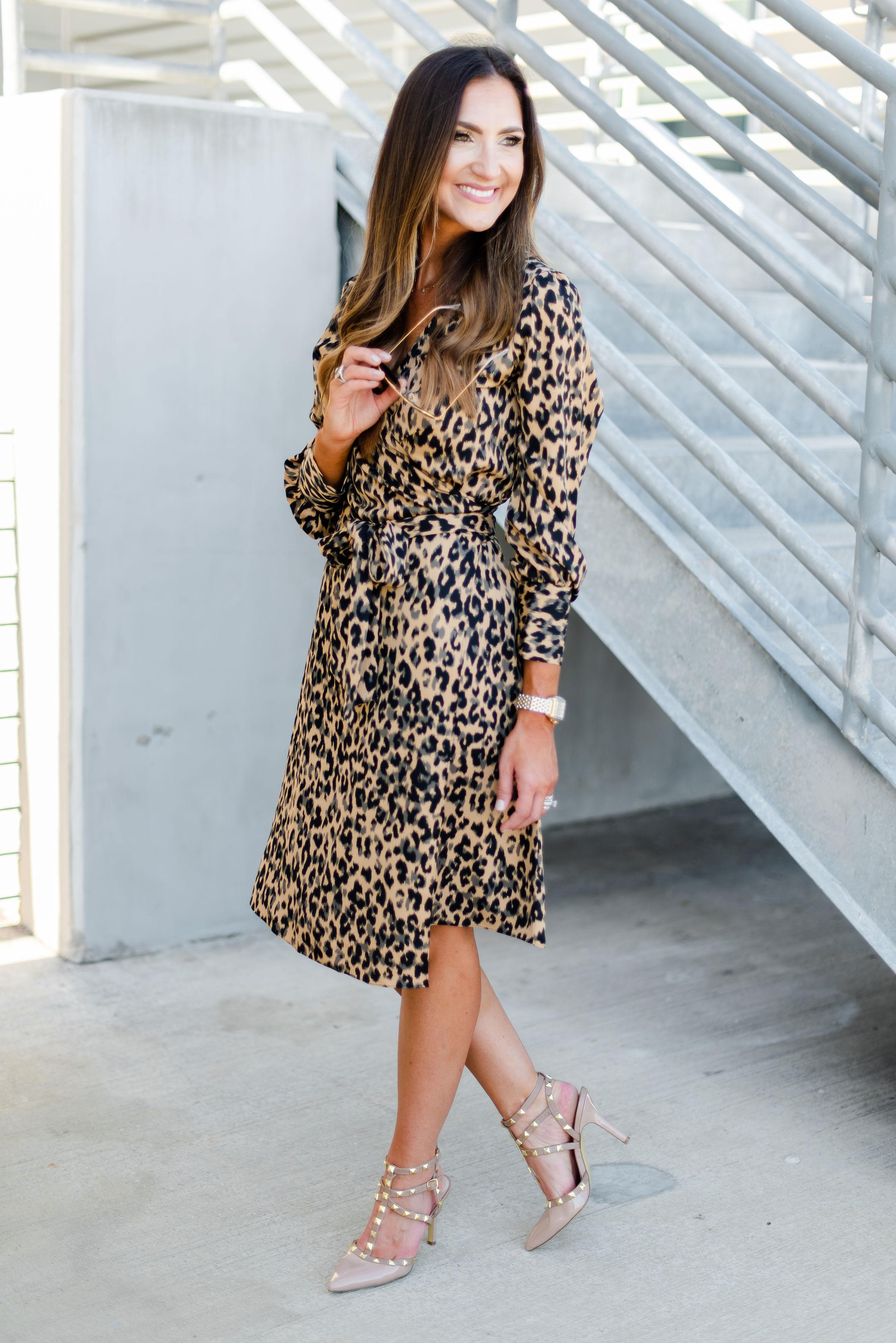 Wrap dress for work | leopard print l wrap dress | Nordstrom | Style Your Senses