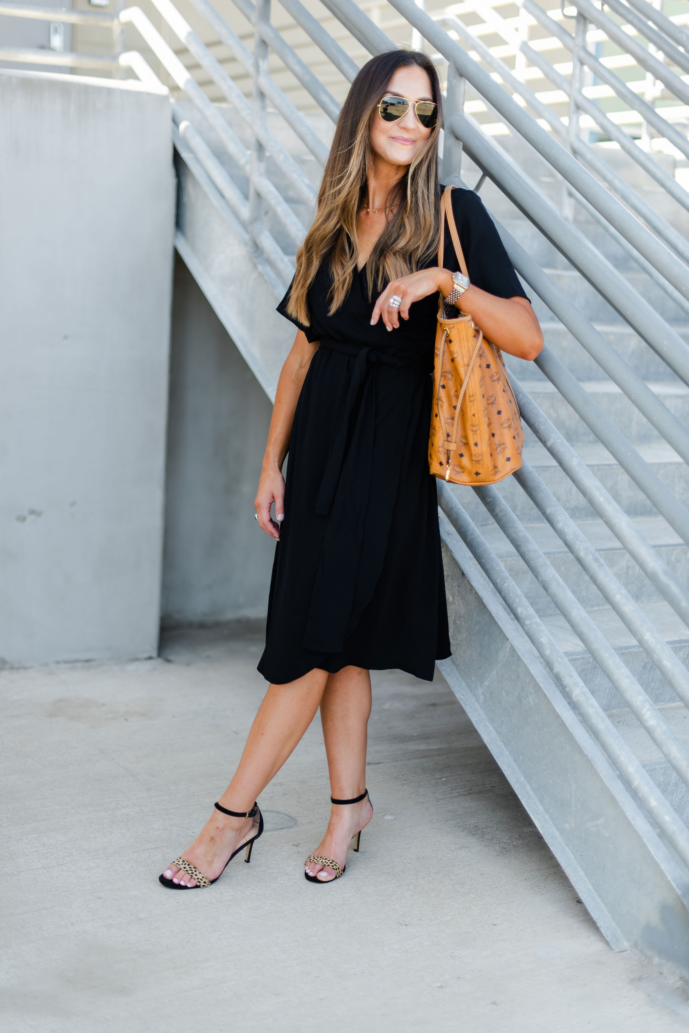Wrap dress for work | lblack wrap dress | Nordstrom | Style Your Senses