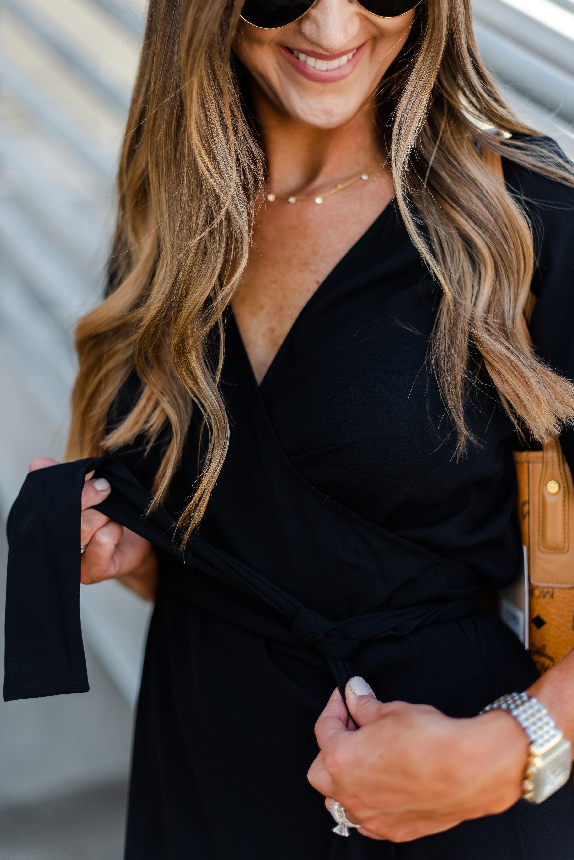 Wrap dress for work | lblack wrap dress | Nordstrom | Style Your Senses
