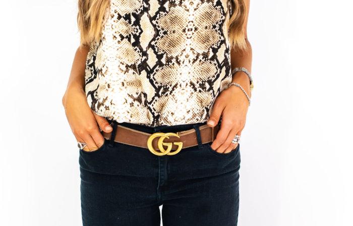 snakeskin halter top | Gibson for Nordstrom | Style Your Senses