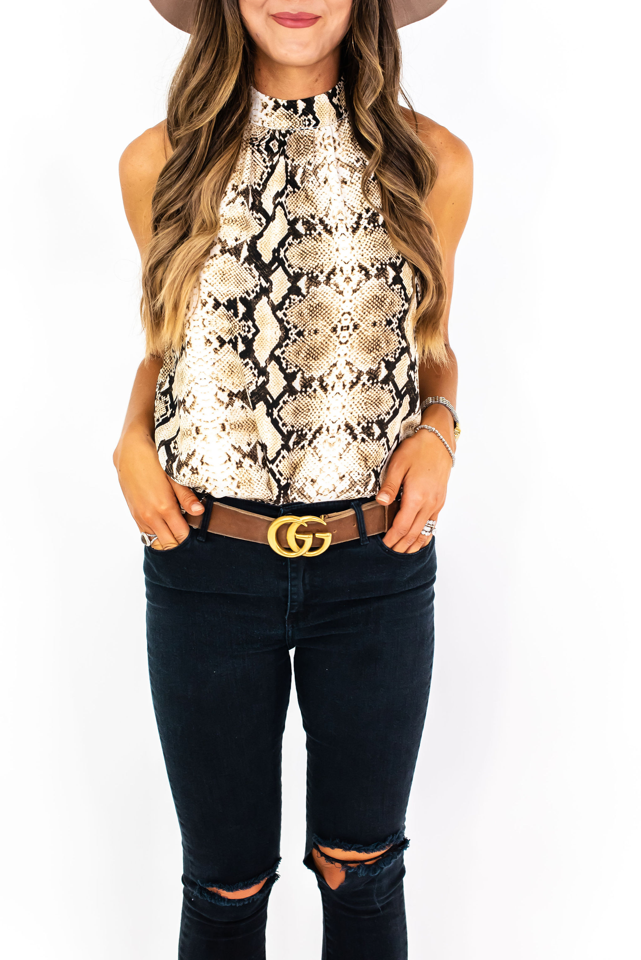 snakeskin halter top | Gibson for Nordstrom | Style Your Senses