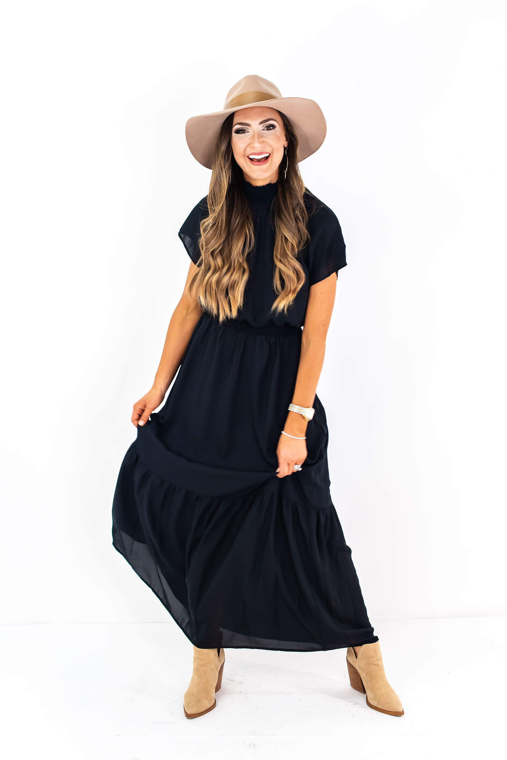 black fall maxi dress | Gibson for Nordstrom | Style Your Senses