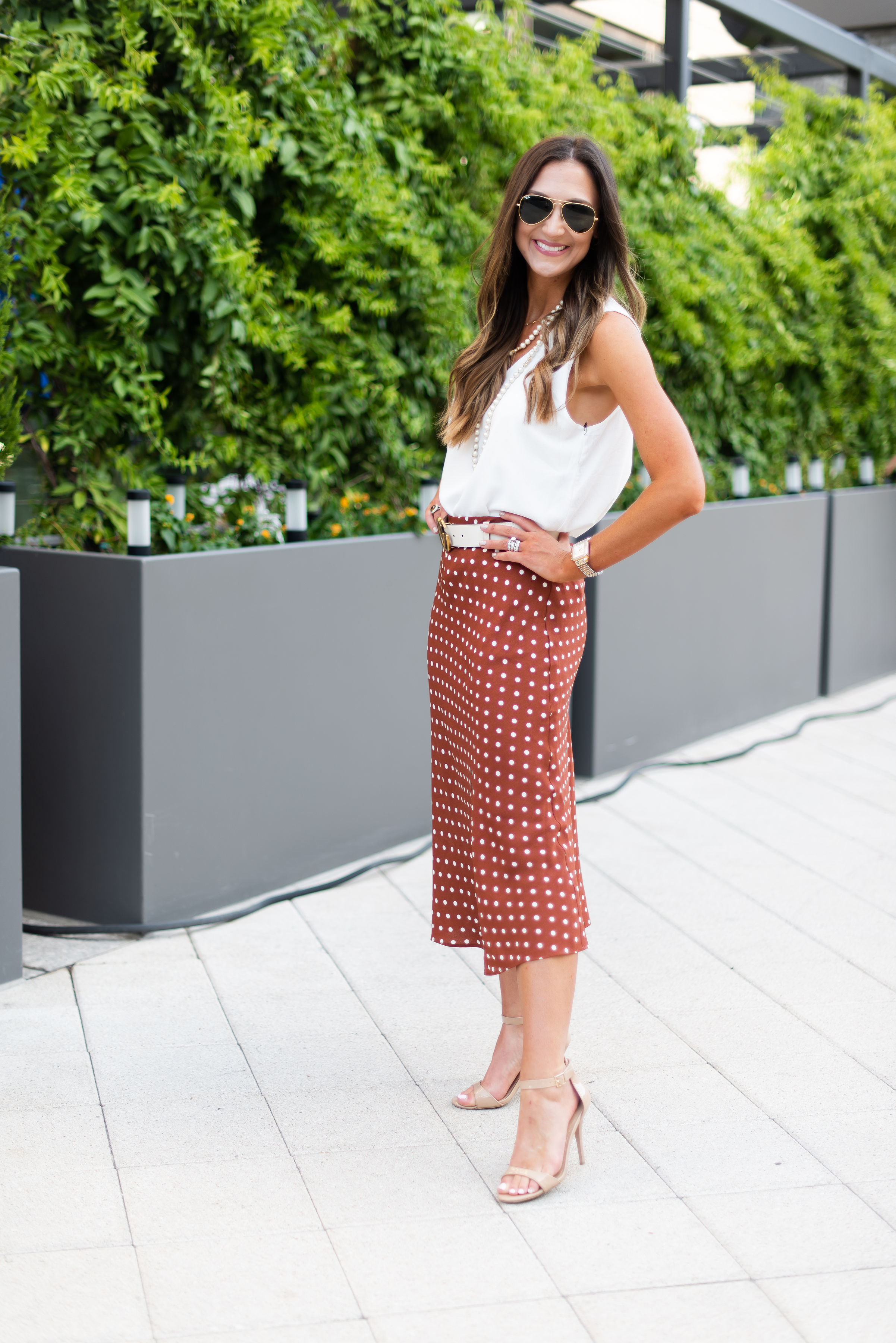 Color Trend Rust | Burnt Orange | workwear | polka dot skirt | | Style Your Senses