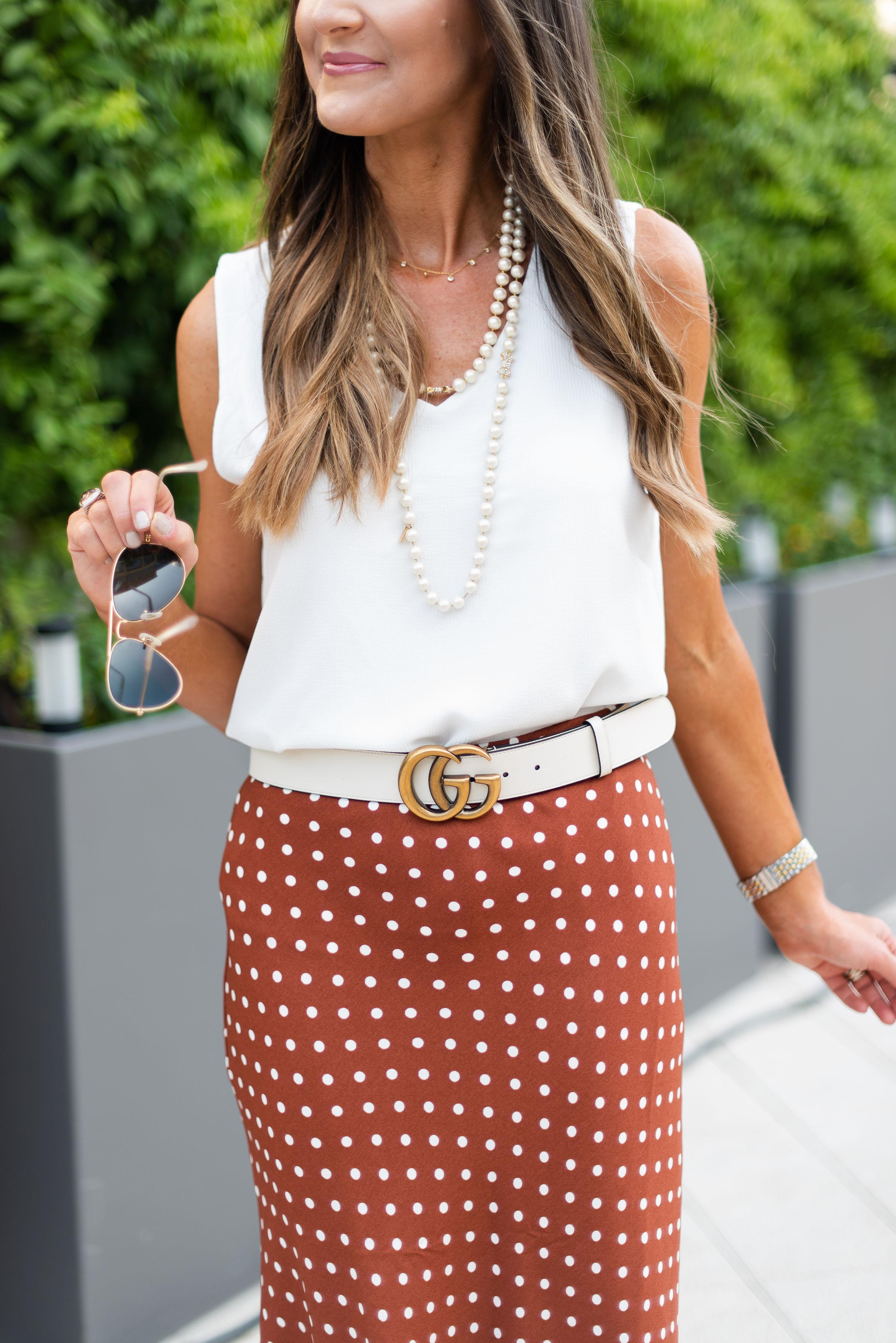 Color Trend Rust | Burnt Orange | workwear | polka dot skirt | | Style Your Senses