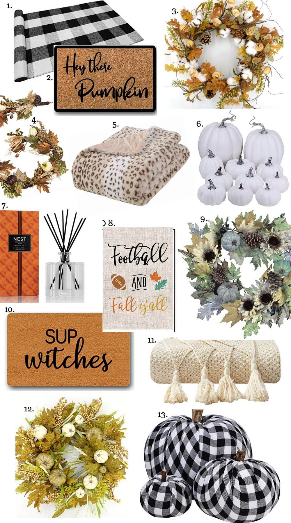 Fall Decor on Amazon
