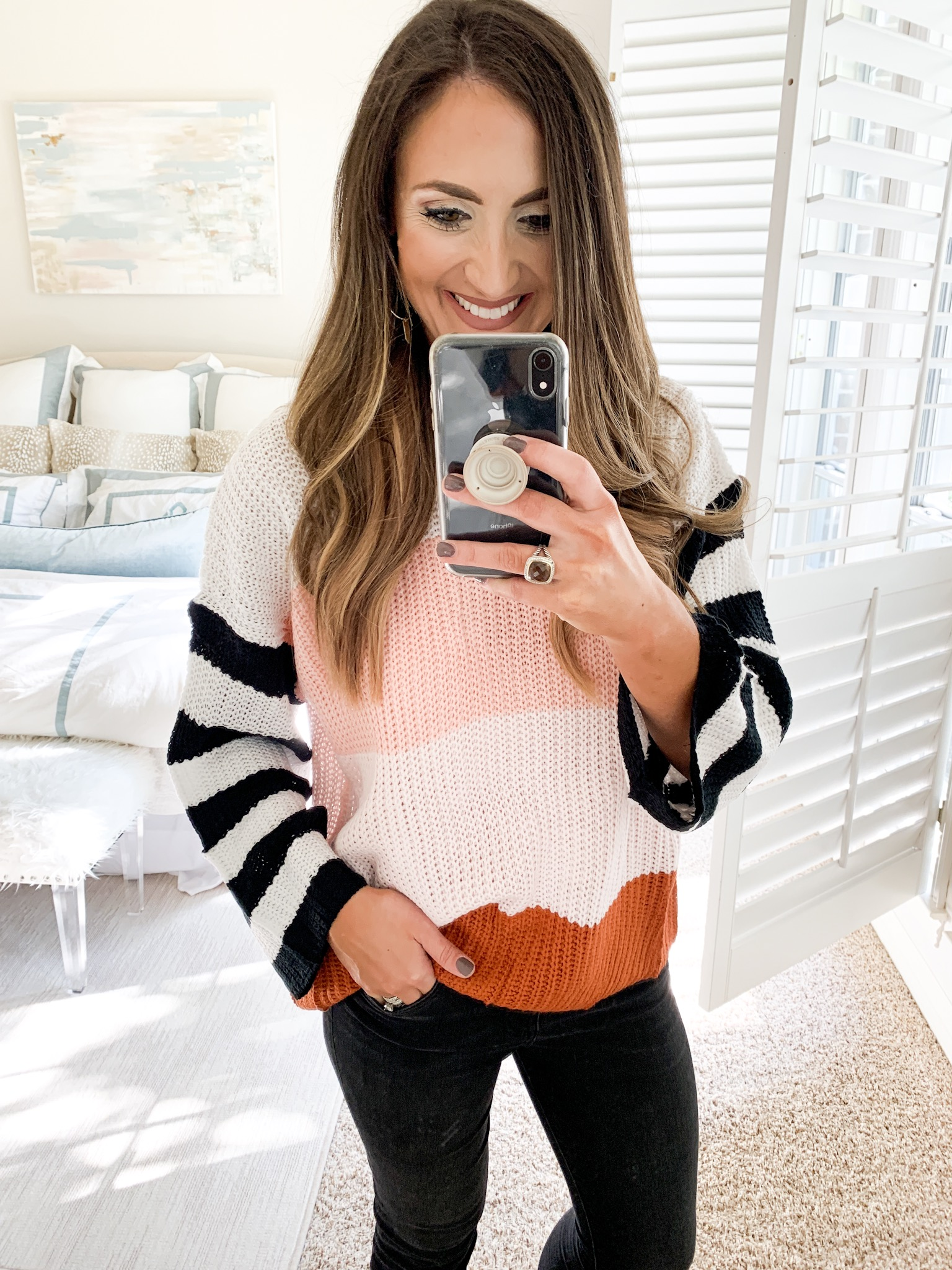 bright stripe sweater | amazon fashion haul for Fall | Style your senses