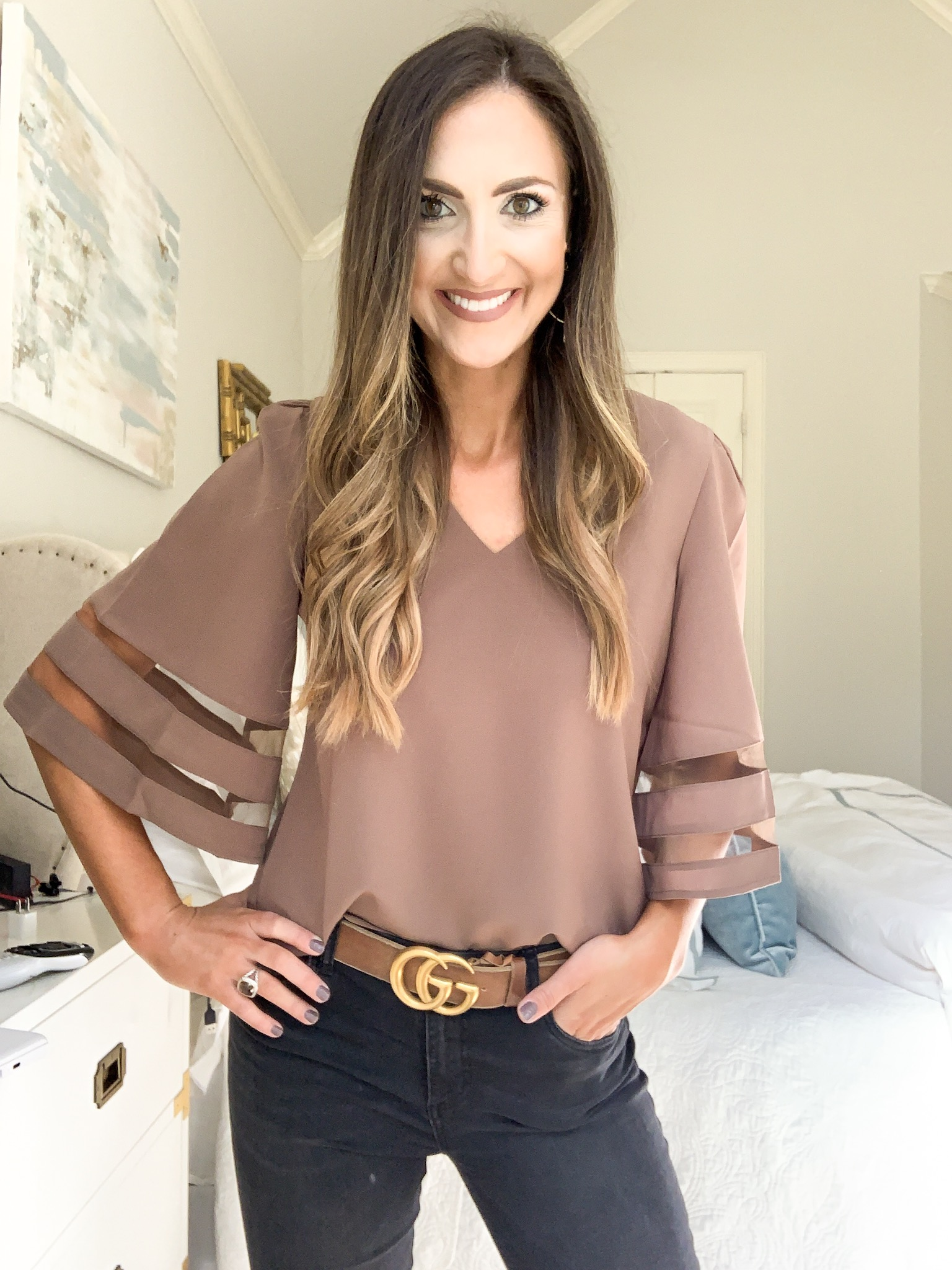 bell sleeve top | amazon fashion haul for Fall | Style your senses