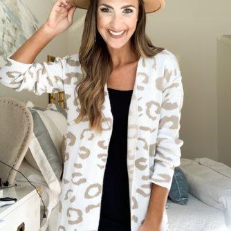 leopard print cardigan | amazon fashion haul for Fall | Style your senses