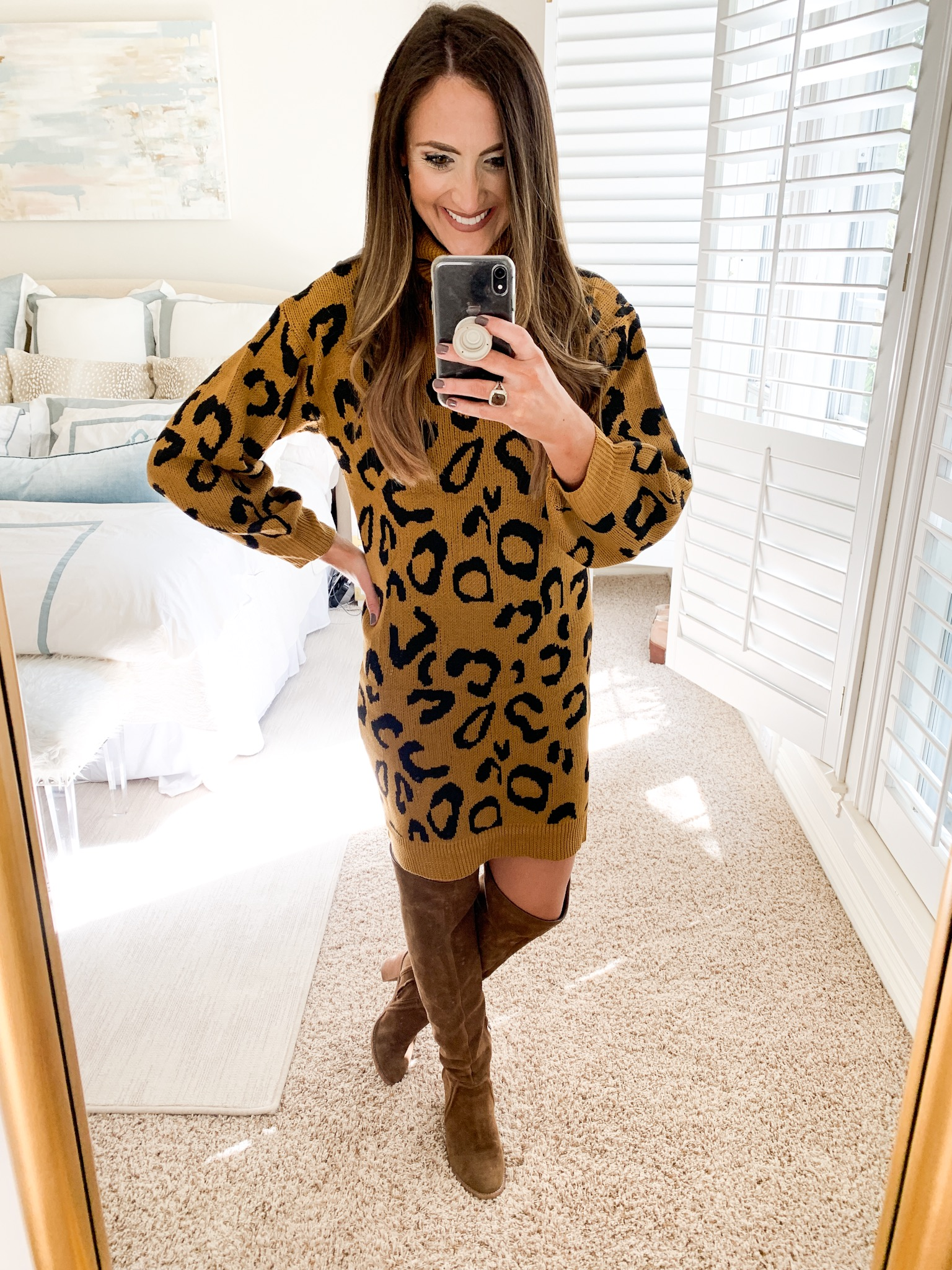 leopard print sweater dress | amazon fashion haul for Fall | Style your senses