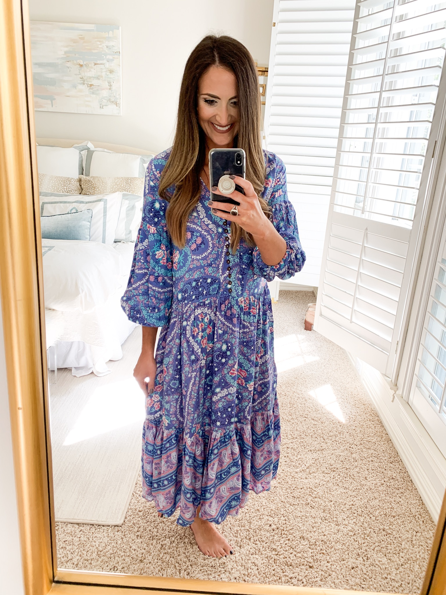 printed casual dress | amazon nightgown | Style your senses