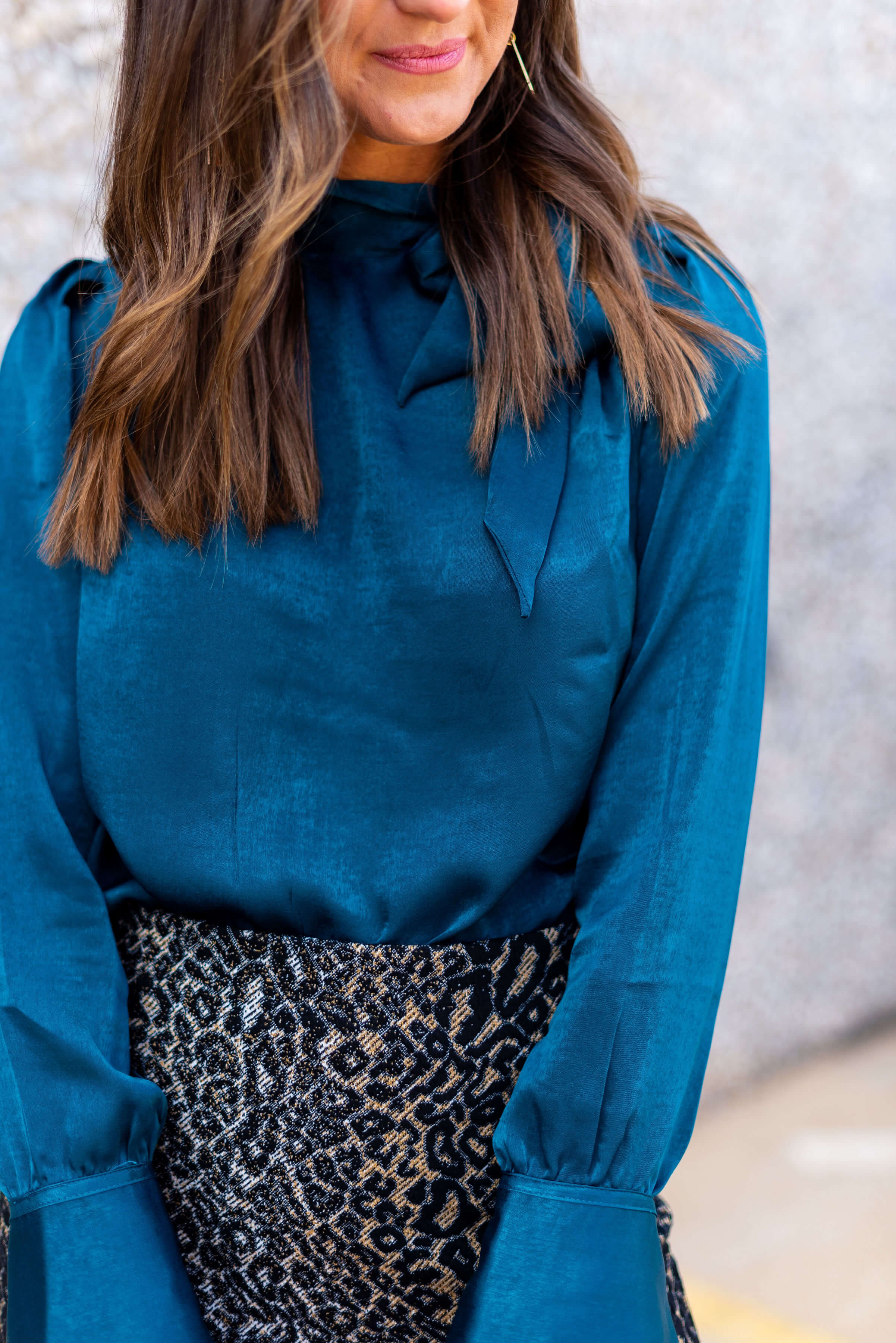 JcPenney Workwear   Teal tie shoulder blouse   Stylish Workwear   Style Your Senses