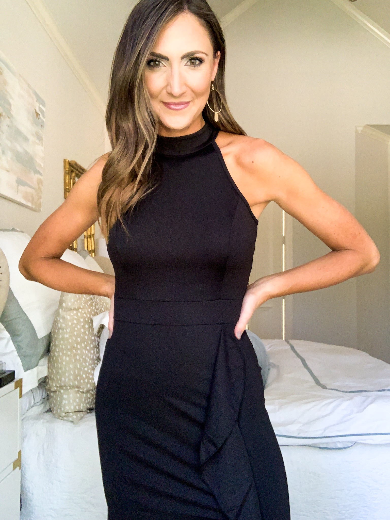 black halter dress with ruffle, style your senses amazon haul