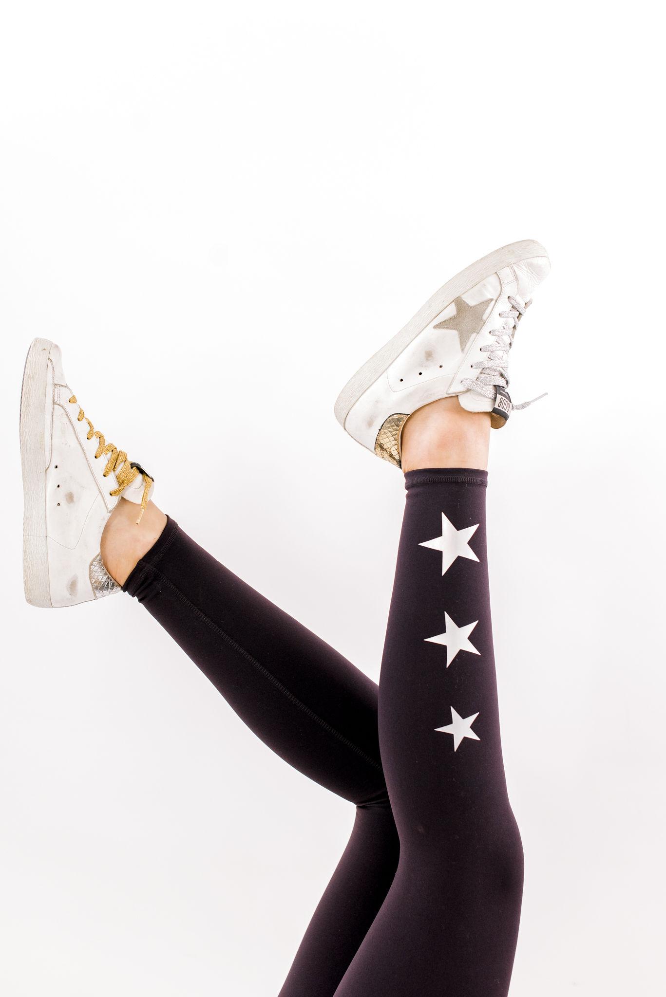 star print leggings, trendy leggings, shop style your senses, athleisure, activewear for women, affordable activewear