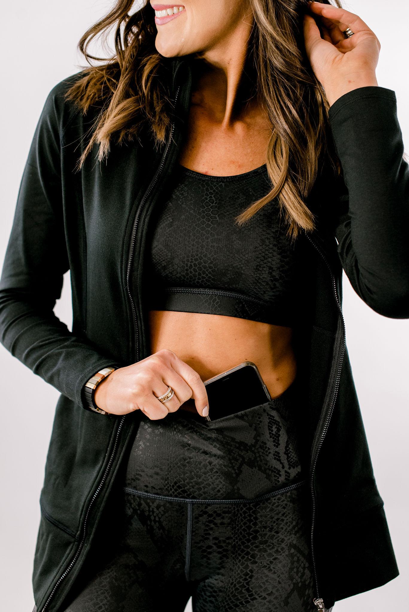 snakeskin leggings, cellphone pocket, shop style your senses, athleisure wear for women, activewear for women
