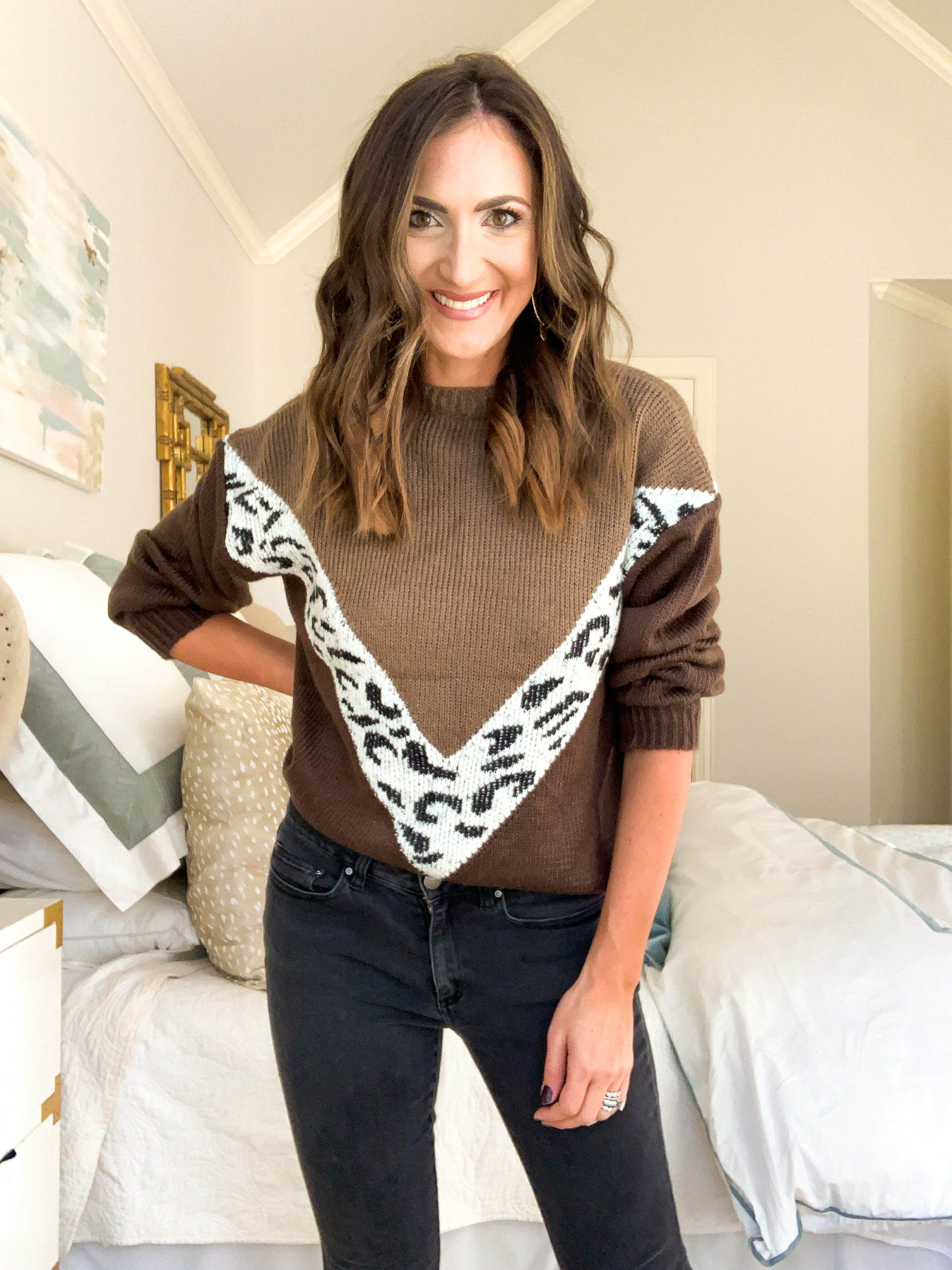 amazon sweater, amazon colorblock sweater, amazon fashion haul, style your senses, mallory fitzsimmons