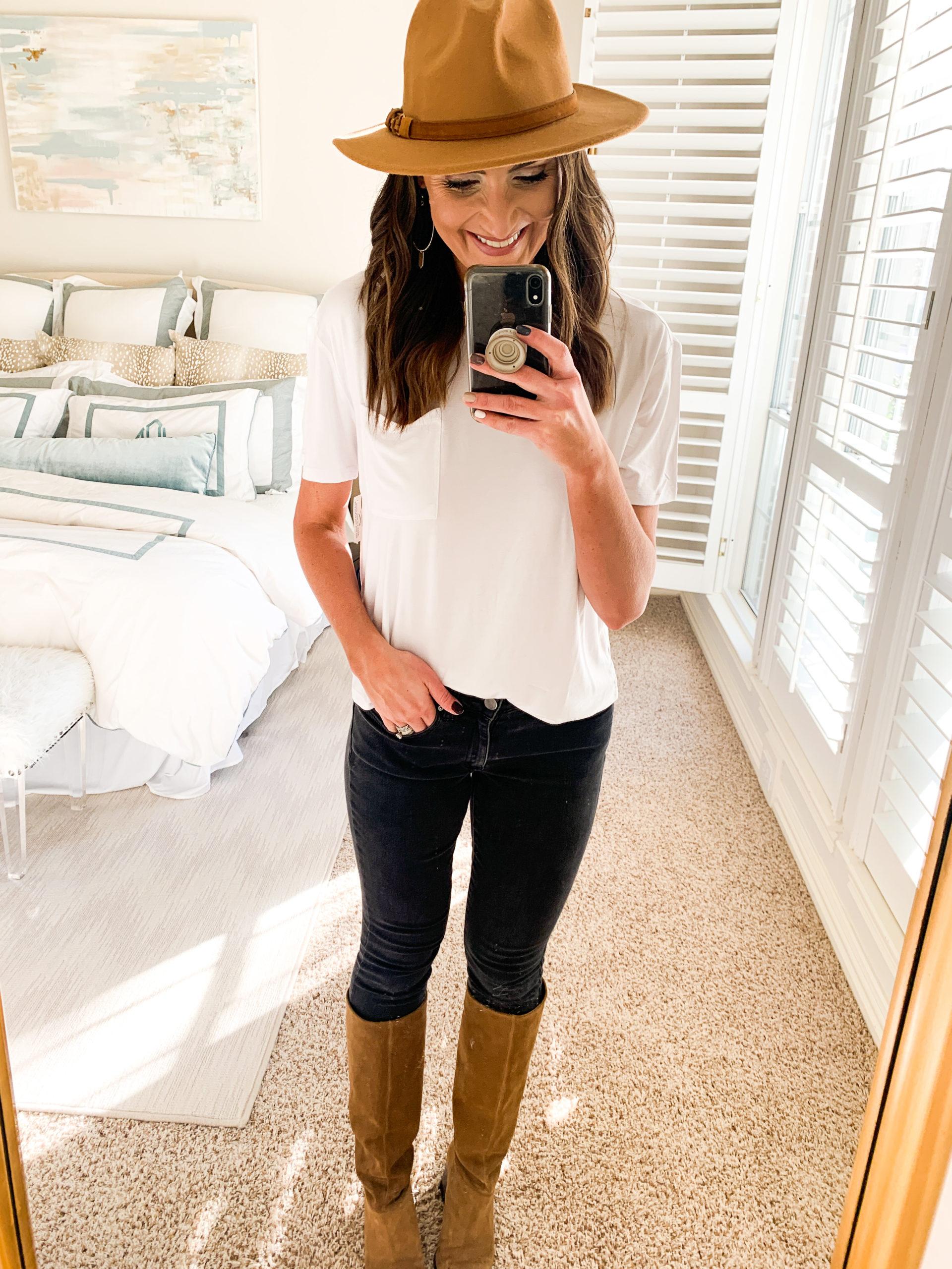 amazon sweater, white turtleneck, amazon fashion haul, style your senses, mallory fitzsimmons