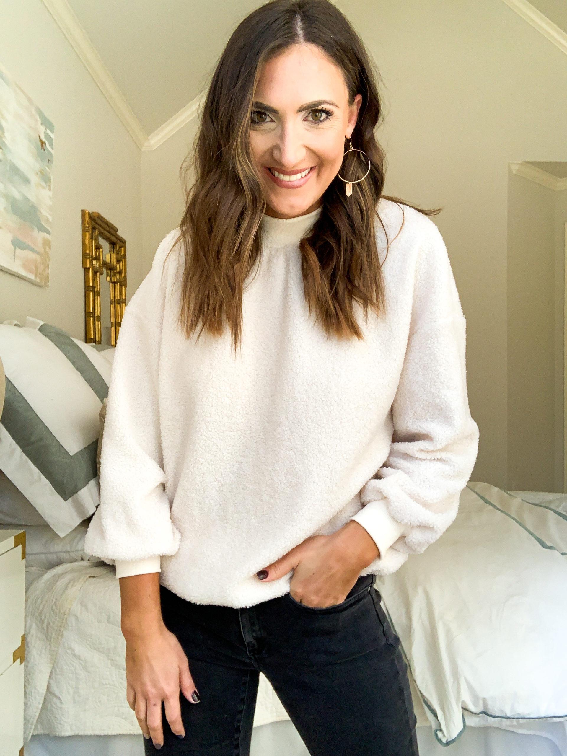 amazon sweater, ivory sweater, amazon fashion haul, style your senses, mallory fitzsimmons
