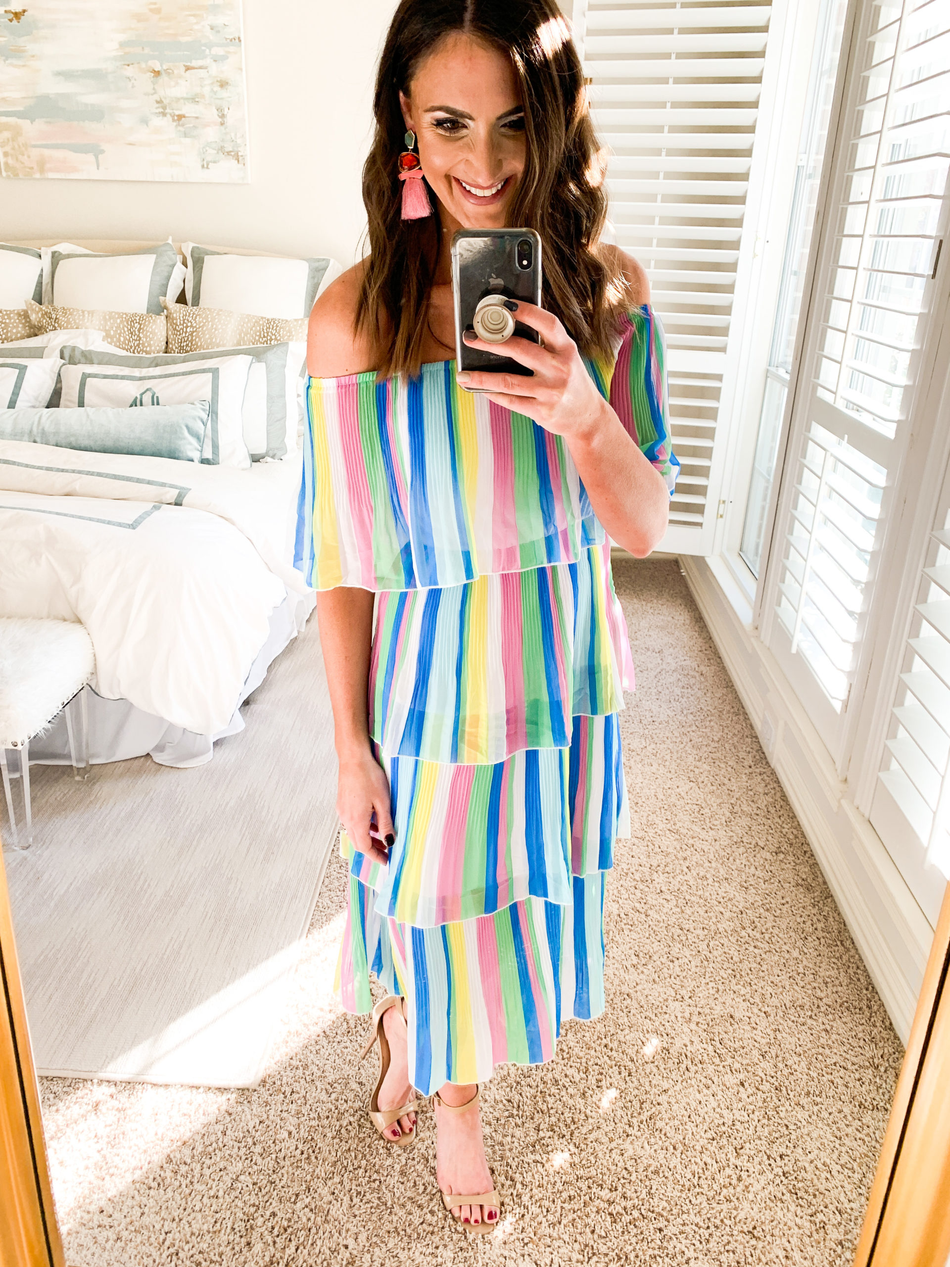 stripe dress, cocktail dress, amazon fashion haul, style your senses, mallory fitzsimmons