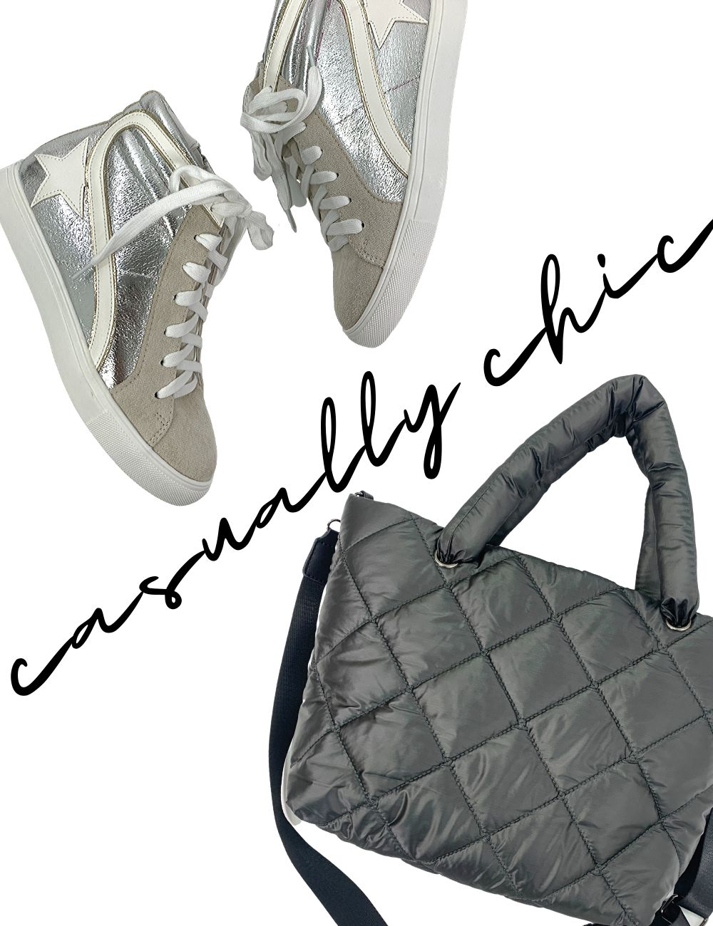 golden goose dupes, mz wallace dupe, quilted bag, star sneakers