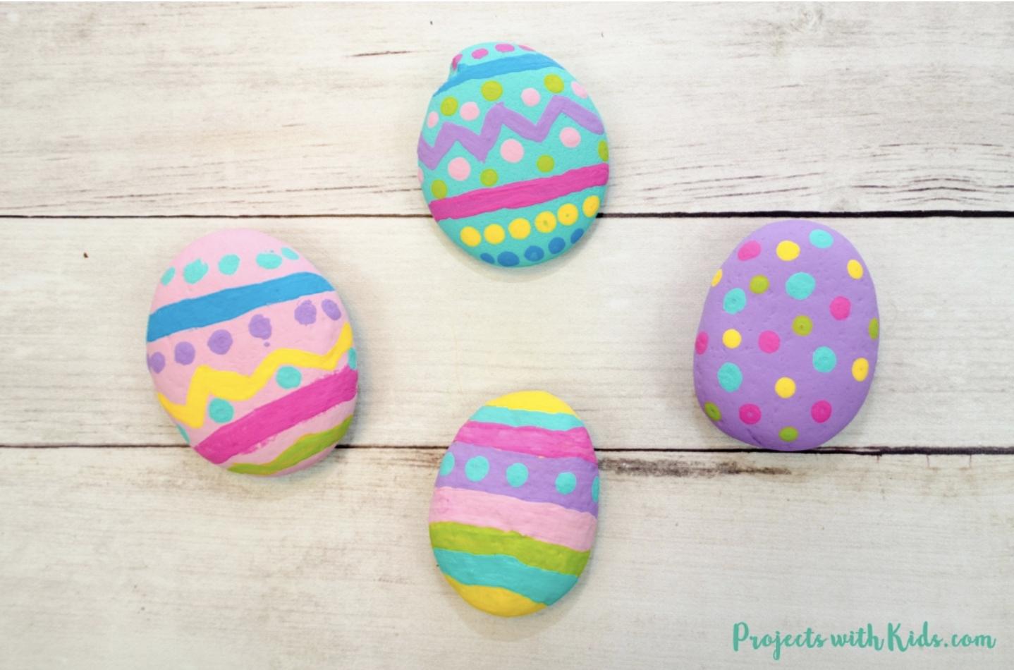 easter egg rocks