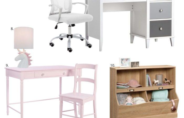 walmart back to school decor, kids desk, homeschool, style your senses