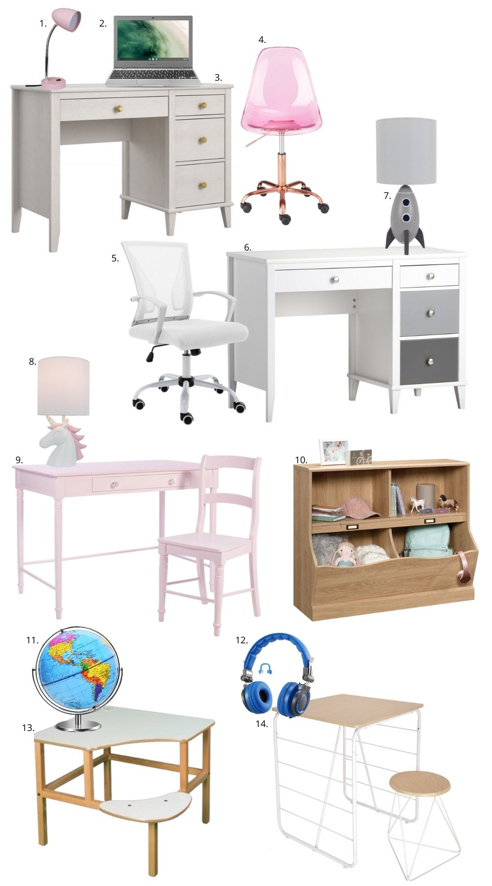 Kids Desks + Decor from Walmart!