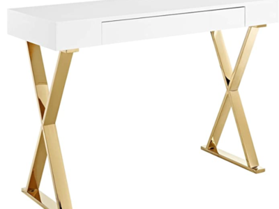 Five Best White and Gold Desks